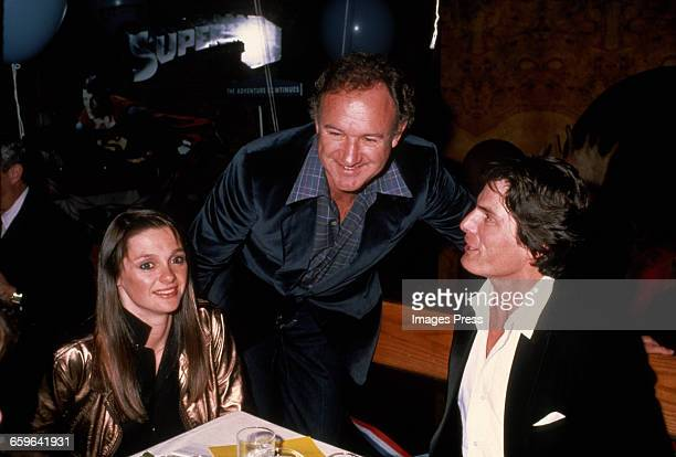 Christopher Reeve girlfriend Gae Exton and costar Gene Hackman circa 1981 in New York City