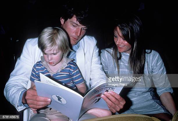 Christopher Reeve son Matthew Reeve and Gae Exton circa 1983 in New York City