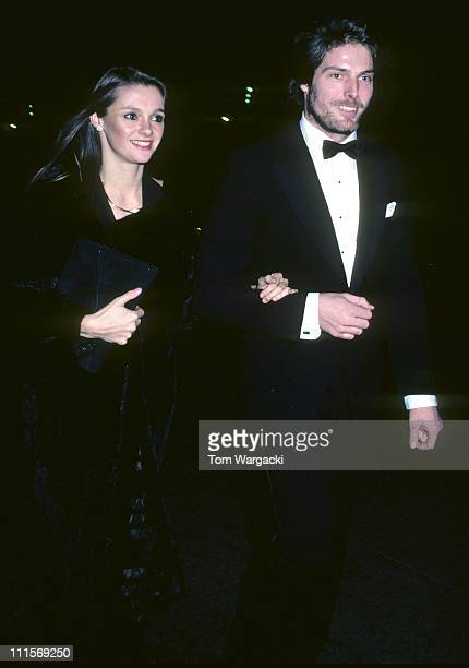 Christopher Reeve with girlfriend Gae Exton during Christopher Reeve Sighting in New York December 9 1980 in New York City United States