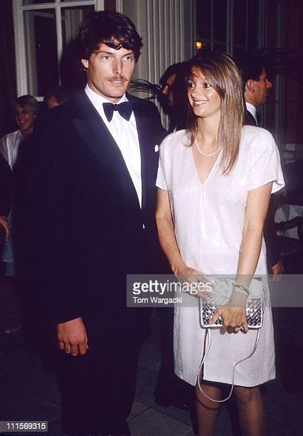 Christopher Reeve with girlfriend Gae Exton during Christopher Reeve Sighting in London July 25 1983 in London Great Britain