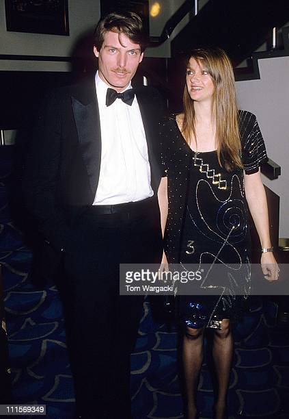 Christopher Reeve with girlfriend Gae Exton during Christopher Reeve Sighting in London June 15 1983 at Grosvenor House Hotel in London Great Britain