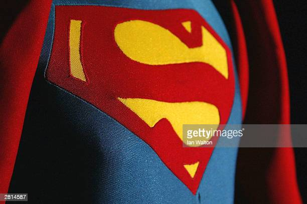 Christopher Reeve's costume from 'Superman' is seen on display at an auction at Christie's auction house December 16 2003 in London Christie's annual...