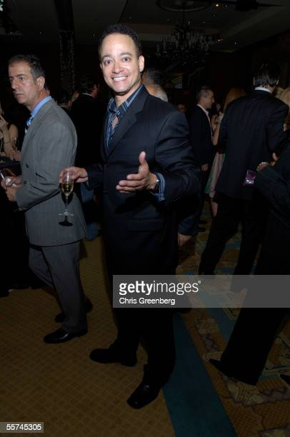 Christopher Reid formerly of the hiphop duo Kid 'N Play poses during the Capitol File Magazine official launch party September 22 2005 in Washington...