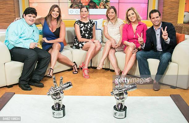 Christopher Rivera winner 'La Voz Kids' Rashel Diaz Natalia Jimenez Winner of 'La Voz Kids' coach Adamari Lopez Ana Maria Canseco and Diego Schoening...