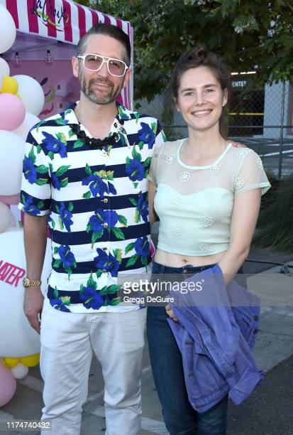 Christopher Robinson and Amanda Knox attend Hilarity For Charity's County Fair hosted by Seth Rogen & Lauren Miller Rogen at The Row on September 14,...