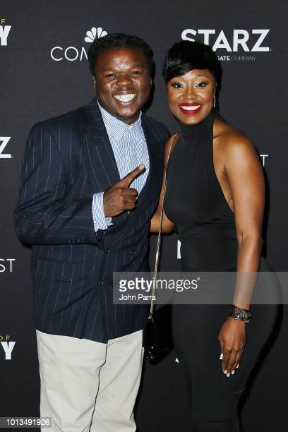 Christopher Rolle and Trishtan Williams attend Miami Screening Of STARZ Warriors Of Liberty City on August 8 2018 in Miami Florida