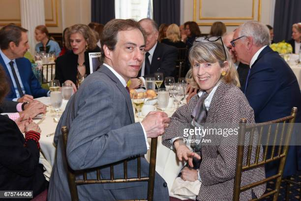 Christopher Rothko and Susan Lowry attend Inaugural AAF Cultural Exchange Award Luncheon at The Metropolitan Club on May 1 2017 in New York City