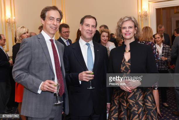 Christopher Rothko Ian Wardropper and Sabine Hagg attends Inaugural AAF Cultural Exchange Award Luncheon at The Metropolitan Club on May 1 2017 in...