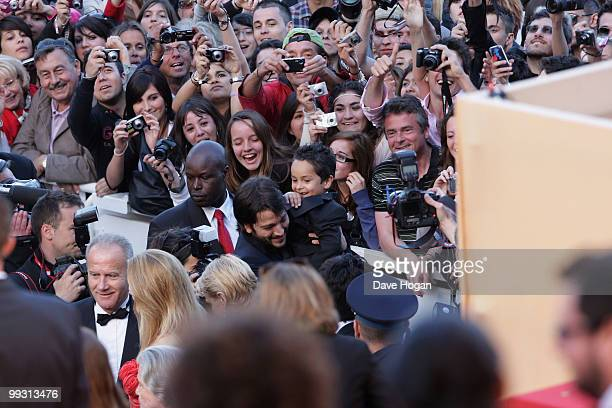 Christopher RuizEsparza attends the Abel Premiere at the Palais des Festivals during the 63rd Annual Cannes Film Festival on May 14 2010 in Cannes...