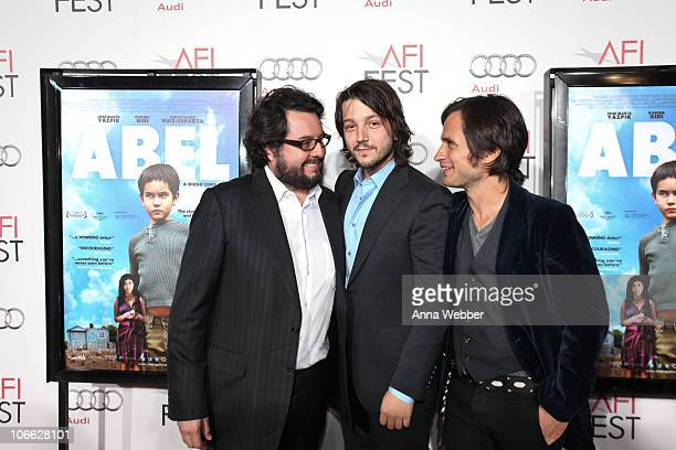 Christopher RuizEsparza Diego Luna and Gael Garcia Bernal arrive to the AFI Fest 2010 Screening Of Abel Red Carpet at Grauman's Chinese Theatre on...