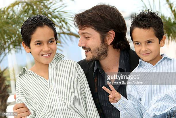 Christopher RuizEsparza director Diego Luna and actor Gerardo RuizEsparza attend the 'Abel' Photo Call held at the Palais des Festivals during the...
