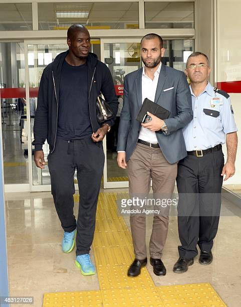 Christopher Samba who reached agreement in principle with Trabzonspor is seen during his arrival in Trabzon Turkey on August 06 2015