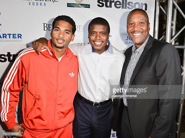 Christopher Samdeo Actor Tony Todd and Joe Carter attend the Joe Carter Classic After Party to support the Children's Aid Foundation at Windsor Arms...