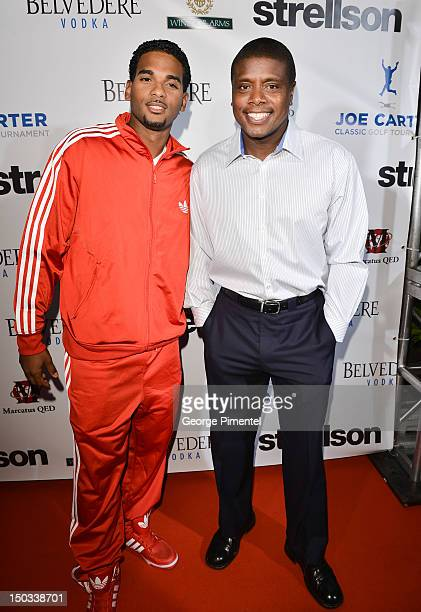 Christopher Samdeo and Actor Tony Todd attend the Joe Carter Classic After Party to support the Children's Aid Foundation at Windsor Arms Hotel on...