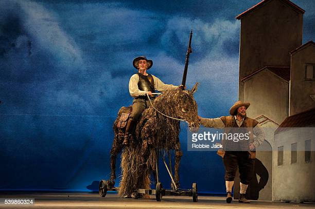 Christopher 'saunders as Don Quixote and Philip Mosley as Sancho Panza in the Royal Ballet's production of Carlos Acosta's Don Quixote at the Royal...