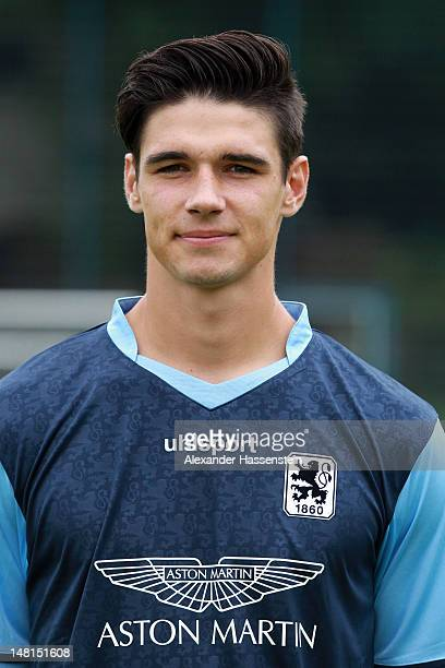 Christopher Schindler of 1860 Muenchen poses during the Second Bundesliga team presentation of TSV 1860 Muenchen on July 11 2012 in Munich Germany