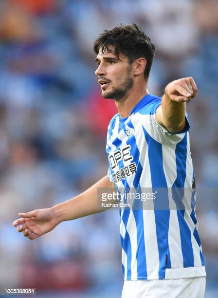Christopher Schindler of Huddelsfield in action during a preseason friendly match between Huddersfield Town and Olympique Lyonnais at John Smith's...