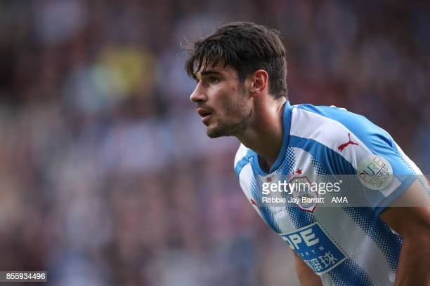 Christopher Schindler of Huddersfield Town during the Premier League match between Huddersfield Town and Tottenham Hotspur at John Smith's Stadium on...