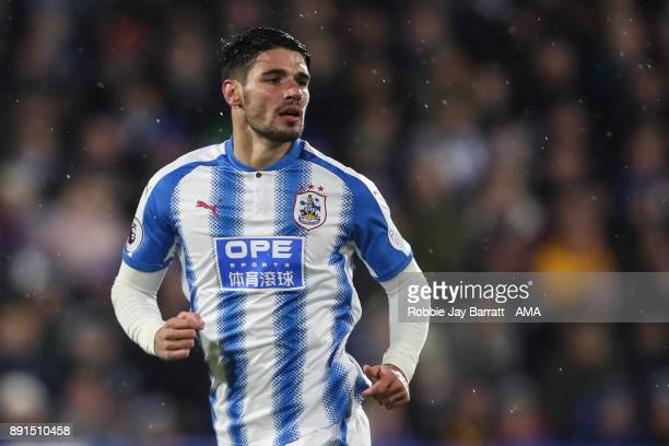 Christopher Schindler of Huddersfield Town during the Premier League match between Huddersfield Town and Chelsea at John Smith's Stadium on December...