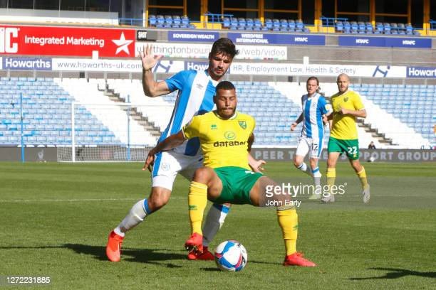 Christopher Schindler of Huddersfield Town during the Sky Bet Championship match between Huddersfield Town and Norwich City at John Smith's Stadium...