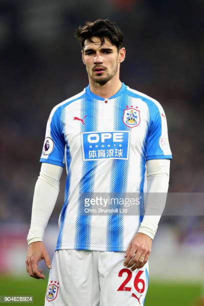 Christopher Schindler of Huddersfield Town looks on during the Premier League match between Huddersfield Town and West Ham United at John Smith's...