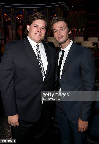 Christopher Schwarzeneger and actor Patrick Schwarzenegger attend The Comedy Central Roast of Rob Lowe at Sony Studios on August 27, 2016 in Los...