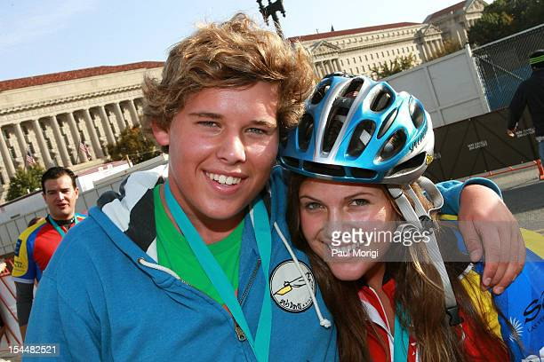 Christopher Schwarzenegger and Natasha Shriver attend the Audi Best Buddies Challenge Washington DC on October 20 2012 in Washington DC