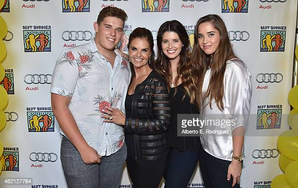 Christopher Schwarzenegger, journalist Maria Shriver, Katherine Schwarzenegger and Christina Schwarzenegger attend the 4th Annual Team Maria Benefit...