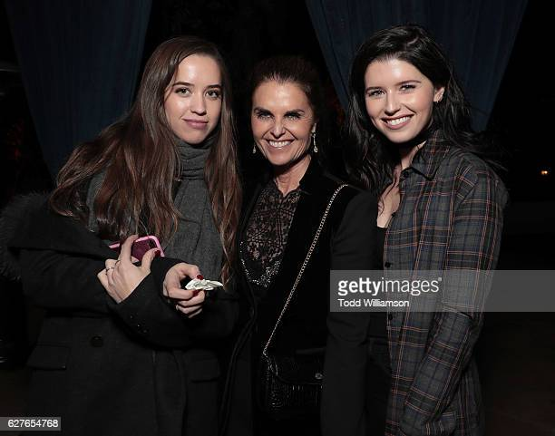 """Christopher Schwarzenegger, Maria Shriver and Katherine Schwarzenegger attend Jeff Bezos and Matt Damon's """"Manchester By The Sea"""" Holiday Party on..."""