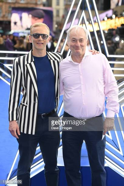 """Christopher Sherwood and Paul Gambaccini attend the """"Rocketman"""" UK premiere at Odeon Leicester Square on May 20, 2019 in London, England."""