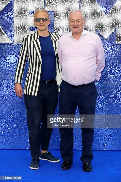 """Christopher Sherwood and Paul Gambaccini attend the """"Rocketman"""" UK premiere at Odeon Luxe Leicester Square on May 20, 2019 in London, England."""