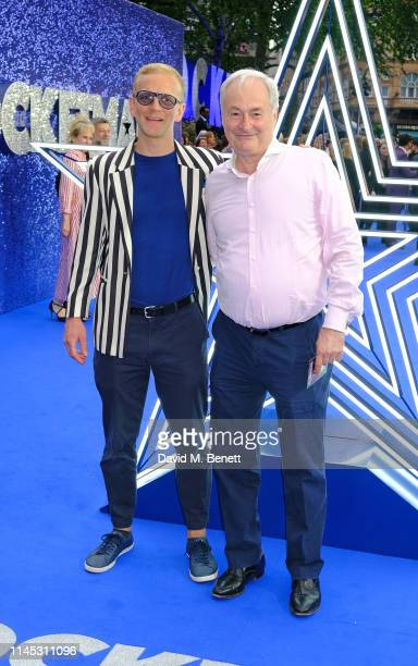 """Christopher Sherwood and Paul Gambaccini attend the UK Premiere of """"Rocketman"""" at Odeon Luxe Leicester Square on May 20, 2019 in London, England."""
