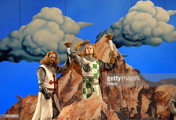 Christopher Sieber and David Hyde Pierce perform a scene from Monty Python's Spamalot