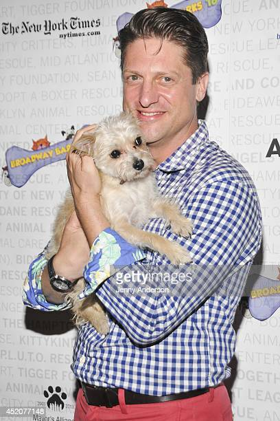 Christopher Sieber attends Broadway Barks 16 at Shubert Alley on July 12 2014 in New York City