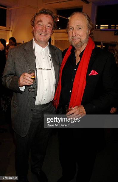 Christopher Simon Sykes and Ed Victor attend a private view of photographs dedicated to Sir Eric Clapton to celebrate his latest book 'Eric Clapton...