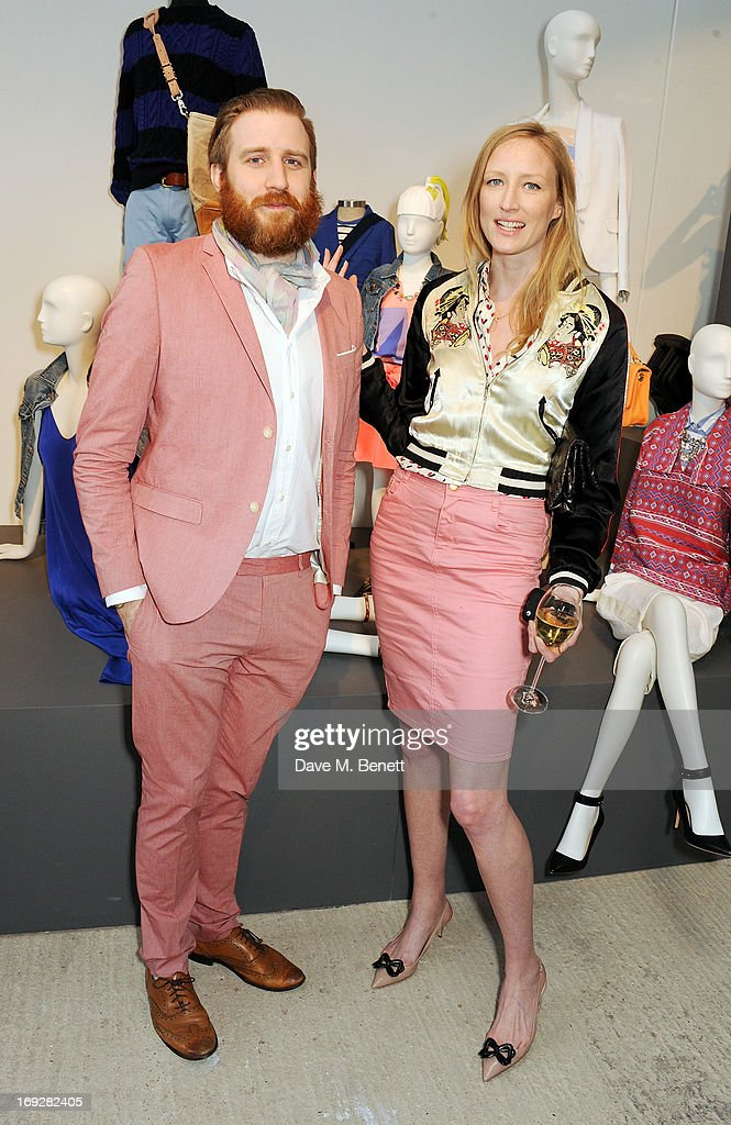 Christopher Slevin and Jade Parfitt attend the J.Crew concept store to launch their partnership with Central Saint Martins College Of Arts And Design at The Stables on May 22, 2013 in London, England.