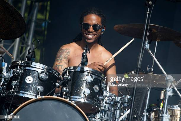 Christopher Smith from The Internet performs on stage at St Jerome's Laneway Festival on February 11 2018 in Fremantle Australia