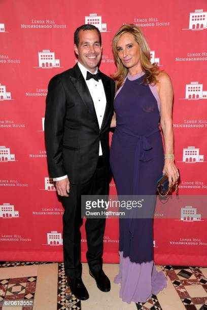 Christopher Spitzmiller and Sonja Morgan attend LNHN Honours Geoffrey Bradfield and John Manice at Cipriani 42nd Street on April 18 2017 in New York...