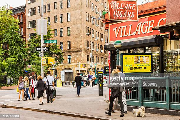 christopher street and seventh avenue - 7th avenue stock pictures, royalty-free photos & images