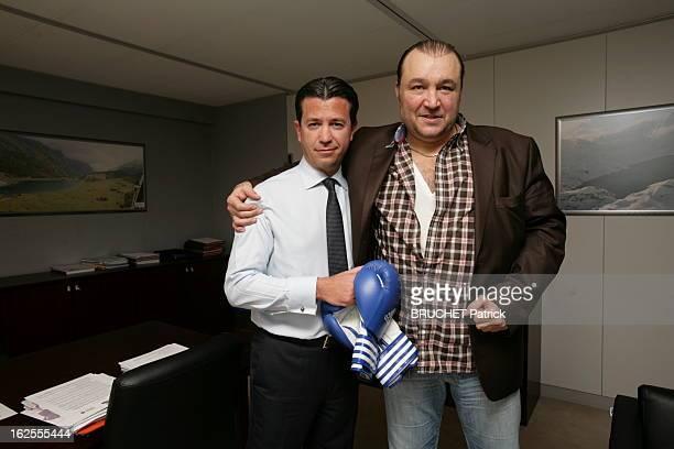 Christopher Thomas And Tiozzo Piquemal At Edf Headquarters In Paris. Paris, 13 janvier 2012 : Thomas PIQUEMAL, directeur financier du groupe EDF,...