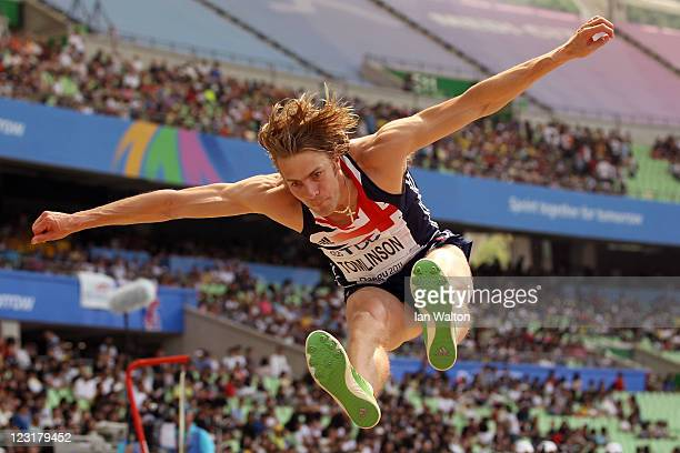Christopher Tomlinson of Great Britain competes in the men's long jump qualification round during day six of the 13th IAAF World Athletics...