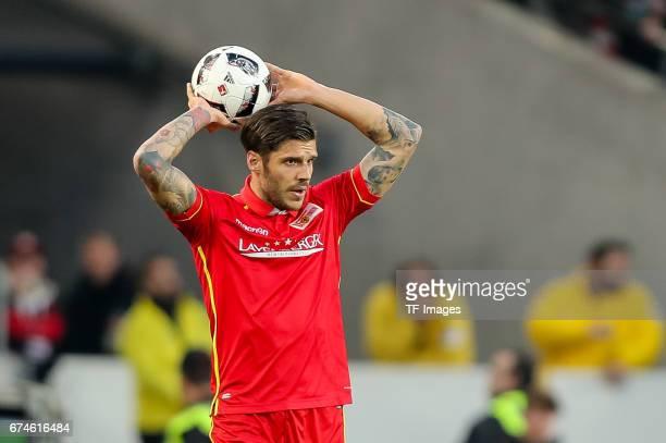 Christopher Trimmel of Union Berlin controls the ball during the Second Bundesliga match between VfB Stuttgart and 1 FC Union Berlin at MercedesBenz...