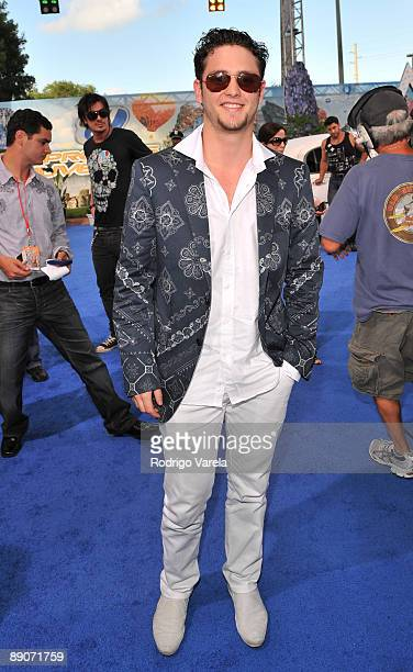 Christopher Ukermann arrives on the red carpet at the Univision's 2009 Premios Juventud Awards at Bank United Center on July 16 2009 in Coral Gables...