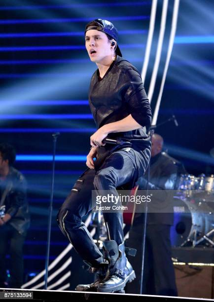 Christopher Velez of CNCO performs onstage during The 18th Annual Latin Grammy Awards at MGM Grand Garden Arena on November 16 2017 in Las Vegas...