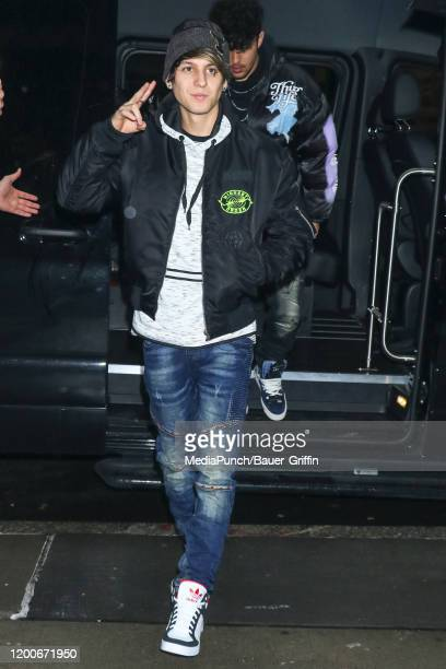 Christopher Velez of music band 'CNCO' is seen on February 13 2020 in New York City