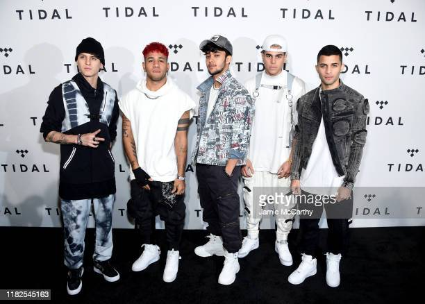 Christopher Velez Richard Camacho Joel Pimentel Zabdiel de Jesus and Erick Brian Colon of CNCO attend the TIDAL's 5th Annual TIDAL X Benefit Concert...