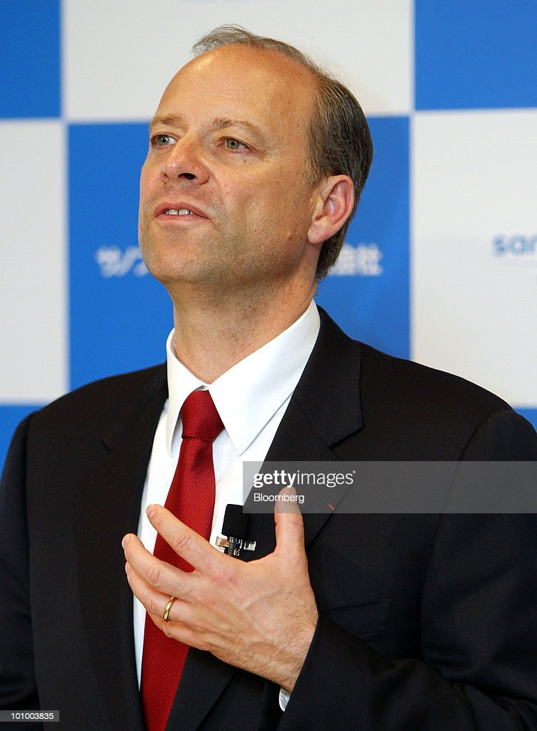 Christopher Viehbacher, chief executive officer of Sanofi-Aventis SA, speaks during a news conference in Tokyo, Japan, on Thursday, May 27, 2010. Viehbacher said there are external parties interested in its animal-health business. He declined at a press conference in Tokyo today to identify any potential bidders. Photographer: Haruyoshi Yamaguchi/Bloomberg via Getty Images Christopher Viehbacher