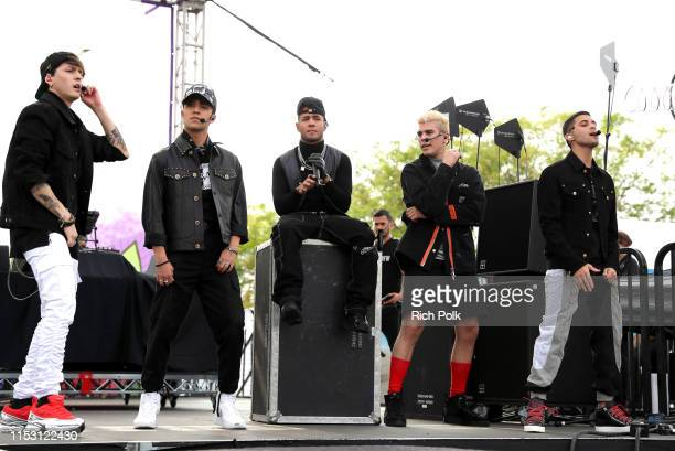 Christopher Vélez, Joel Pimentel De Leon, Richard Camacho, Zabdiel De Jesús and Erick Brian Colon of CNCO perform onstage during the KIIS FM Wango...