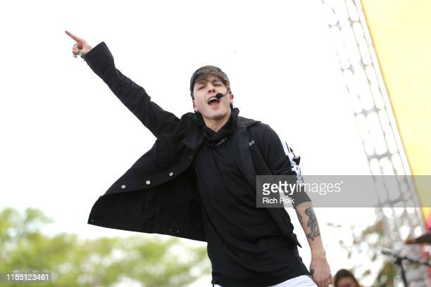 Christopher Vélez of CNCO performs onstage during the KIIS FM Wango Tango Village at 2019 iHeartRadio Wango Tango at Dignity Health Sports Park on...
