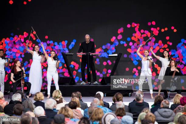 Christopher von Deylen aka Schiller performs during the opening ceremony of the IGA 2017 in Berlin Germany on April 13 2017 The exhibition will open...